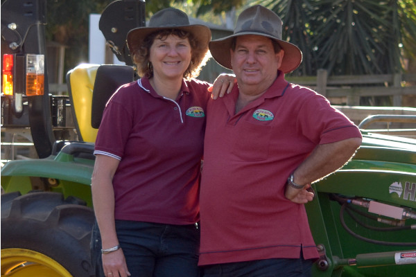 David and Katrina - owners of White Ridge Farm